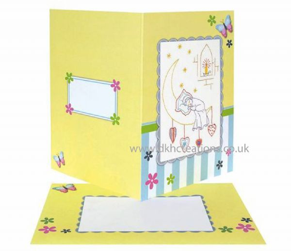 Christening Embroidery Card Kit